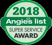Angies List Super Service Award 2018